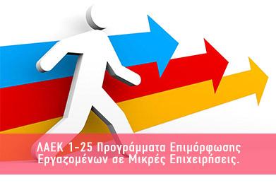ΛΑΕΚ 1-25 Προγράμματα Επιμόρφωσης Εργαζομένων σε Μικρές Επιχειρήσεις.